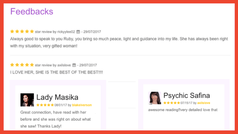 feedback psychic readings